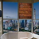 YOLIYANA ビニールウィンドウフィルム ローワン 浴室でよく機能する 水彩スタイル枝 ローワン・ベリー 冬 クリスマス 17''x24'' YO_03_04_Q0404_064261
