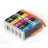 CANON / キヤノン キャノン 互換インクカートリッジ インクタンク BCI370XL (BK ブラック) + BCI371XL (BK ブラック / C シアン/ M マゼンダ/ Y イエロー) 5色マルチパック (大容量) 残量表示機能対応 ICチップ付 安心保証1年 eBARONGオリジナル PIXUS MG7730F, PIXUS MG7730, PIXUS MG6930, PIXUS MG5730