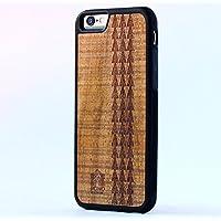 iPhone 8 / 7 ケース 【 Pono Woodworks 】 ハワイアン コアウッド × TPU ハイブリッド スリム ケース Made with Aloha in the USA 【 ハワイアン・タバ・トライバル 】