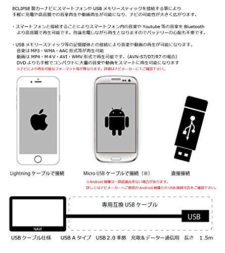 【2年保証】イクリプス(ECLIPSE)専用 互換ケーブル USB111 USB接続コード