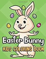 Easter Bunny Kids Coloring Book: Bunny Juggling Eggs Cover Color Book for Children of All Ages. Green Diamond Design with Black White Pages for Mindfulness and Relaxation