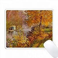 モネ絵画のプリントスタジオボート PC Mouse Pad パソコン マウスパッド