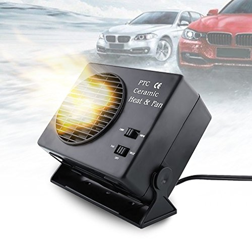 yiteng 車載ファンヒーター 車載用クーラー ポータブルカーヒーター ドライヤ 車載用暖房 除霜...