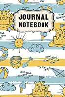 Journal Notebook: Beach Lined Daily 6x9 Journal / Notebook  | 109 Pages