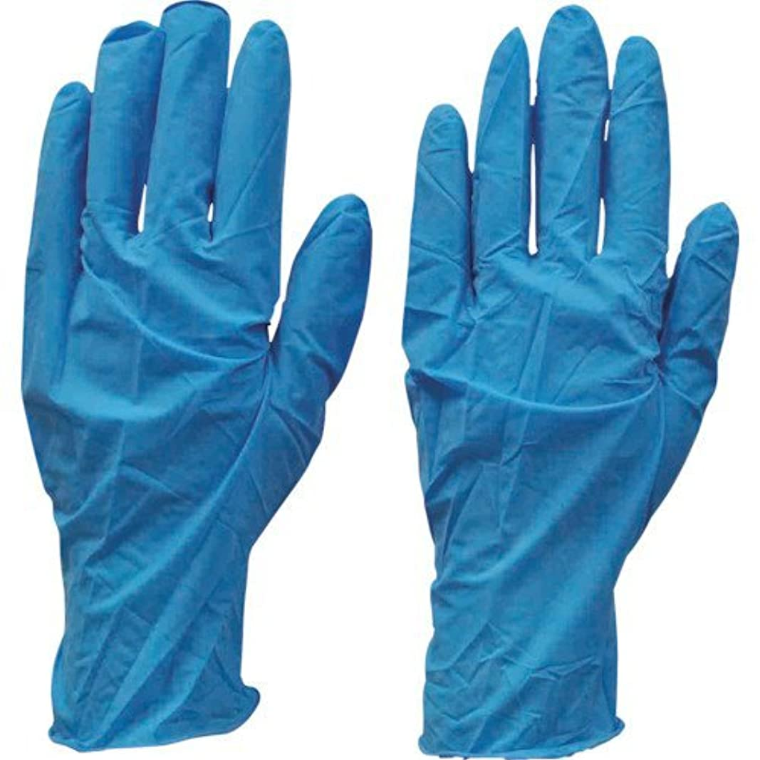 遮るスパークフォークダンロップ N-211 天然ゴム極うす手袋100枚入 Lブルー N211LB