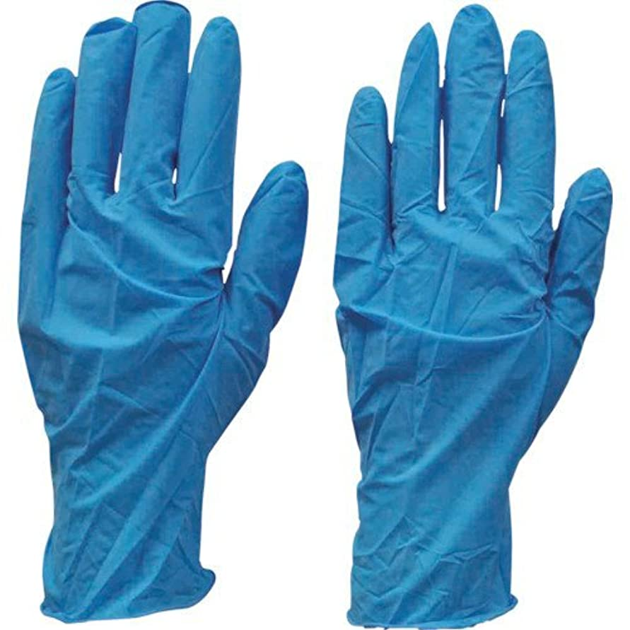 ペルソナ一貫性のない上級ダンロップ N-211 天然ゴム極うす手袋100枚入 Mブルー N211MB