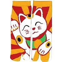 Shinobiya Japanese Tabi Sandal, Split Toe Socks Manekineko Lucky Cat