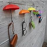 (ロータスライフ)LOTUS LIFE グッとお洒落な空間演出に UMBRELLA DROP 鍵掛け 小物入れ 収納 壁フック 壁面収納 に ((赤、オレンジ、黄の3個セット)