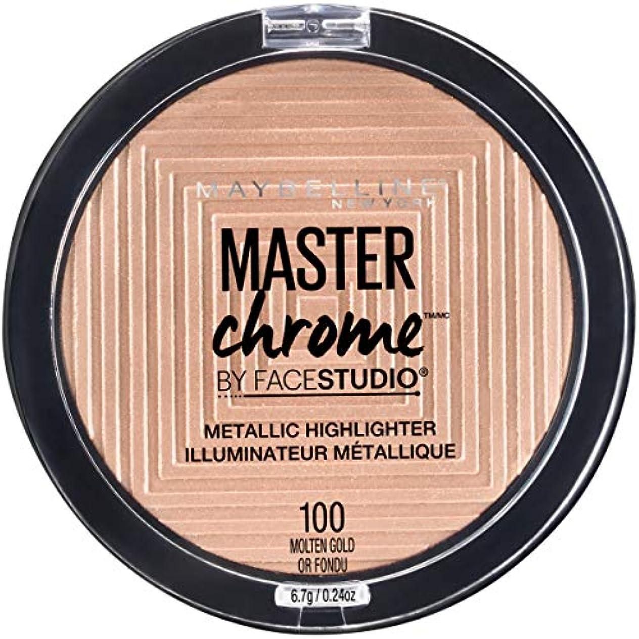 ビクター順応性のある後世MAYBELLINE FaceStudio Master Chrome Metallic Highlighter - Molten Gold Or Fondu (並行輸入品)