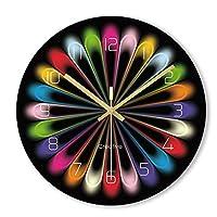 掛け時計 壁時計ノンチックバッテリー駆動クリエイティブデザイン装飾リビングルームの寝室現代多色ラウンドアクリル時計 置時計 (Color : C)