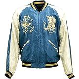 TAILOR TOYO(テーラー東洋)SOUVENIR JACKET(スカジャン)『White Tiger × Eagle』TT13838-125 Blue/Black L