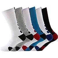 Men's Cushioned Socks Basketball Sock for Men (6 Color)