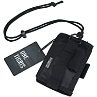 OneTigris ID Card Holder, Credit Card Organizer Neck Lanyard Key Ring Wallet Tactical Badge Holder