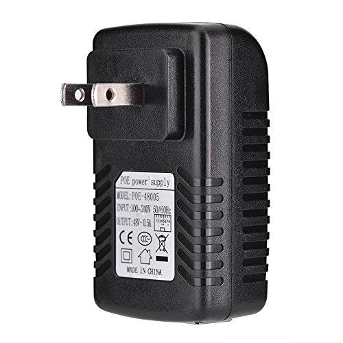 Acouto [POEアダプタ] 48V 0.5A POEインジェクタ イーサネットアダプタ IP電話、無線アクセスポイント、クライアントデバイスなどと互換 壁掛け式(米国プラグ)の詳細を見る