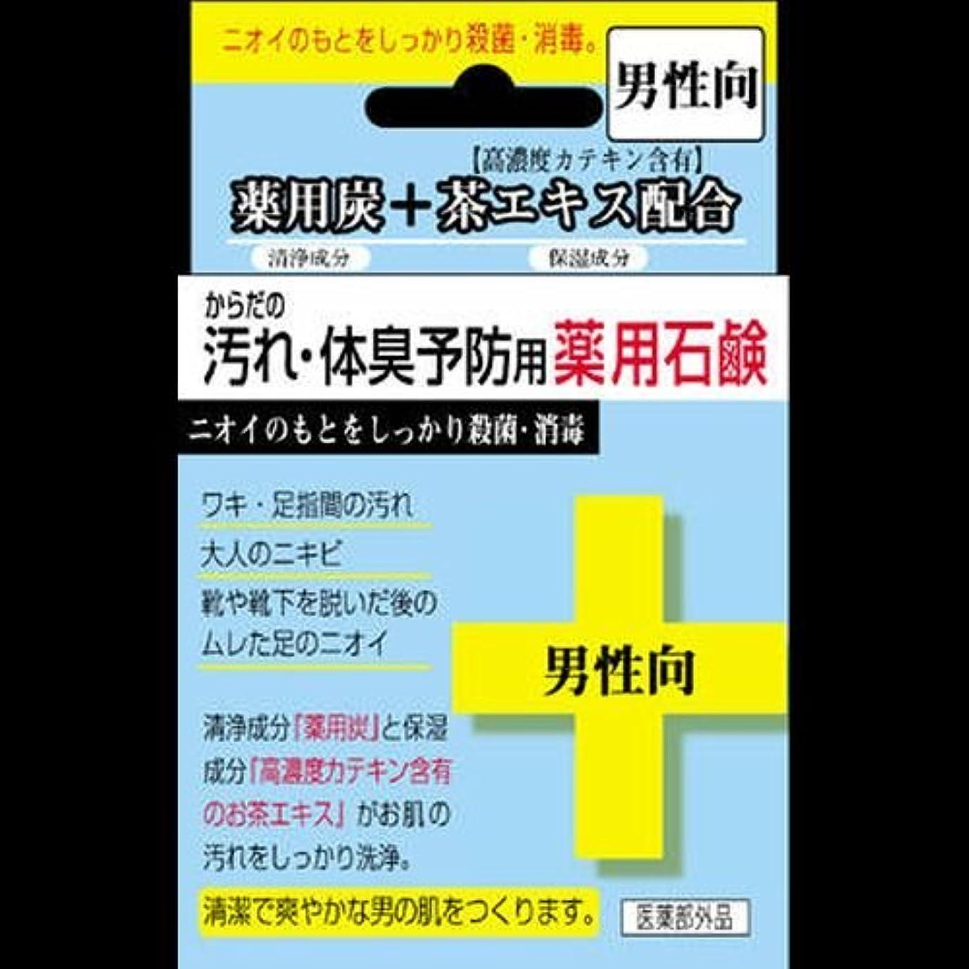 航空会社マークダウン突撃【まとめ買い】からだの汚れ?体臭予防薬用石鹸 男性向け 80g ×2セット
