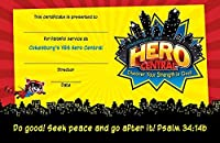Vacation Bible School VBS Hero Central Leader Recognition Certificates (Pkg of 10): Discover Your Strength in God! [並行輸入品]