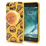 PLATA iPhone7 / iPhone8 ケース 低反発 ふわふわ バーガー ソフト カバー アイフォン 7 8 【 イエロー 黄 いえろー yellow 】 IP7-4106YL