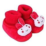 Tonsee ベビーシューズ 可愛い ブーツ 歩行サポート 防寒対策 赤ちゃん ウォーキングシューズ (11cm, レッド)