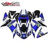 Sportfairings オートバイ バイク外装パーツ 適応モデル ヤマハ Yamaha YZF-1000 YZF-R1 R1 2002 2003 年 02-03 46 青と緑