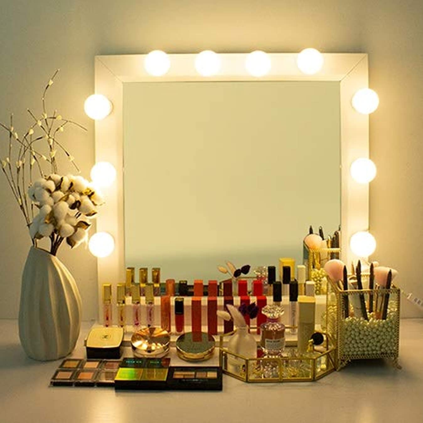 認識にもかかわらず紛争PETIT THINGS LED プチシンスLED女神照明 芸能人化粧台 ハリウッドミラー 化粧鏡