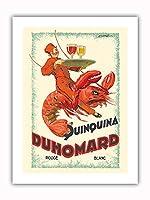 Quinquina Duhomard - フランスのアペリティフワイン - ビンテージな広告ポスター によって作成された ドルフィ c.1928 - プレミアム290gsmジークレーアートプリント - 30.5cm x 41cm