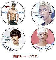 2PM WOOYOUNG ウヨン 写真付き マグネット 4個セット