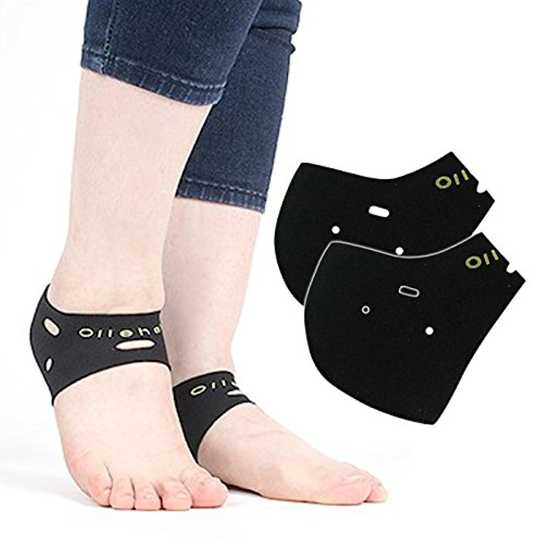 吐く最も内側【かかとケア 靴下】 ソックス サポーター 角質ケア 保温 保湿 防寒靴下 発熱ソックス 靴下 冷え取り 両足 フリーサイズ