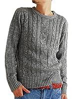 (アーケード) ARCADE 10color メンズ ニット セーター クルーネック ケーブル編み ニットセーター 秋 冬 丸首 S M L XL(LL)