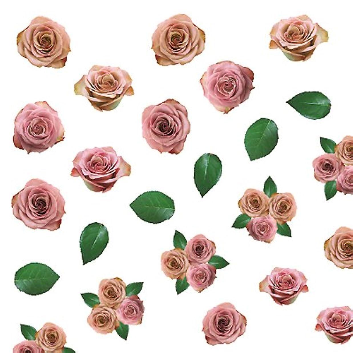 葉を拾う小屋スライスツメキラ ネイル用シール フラワーフォト バラ ハロウィン