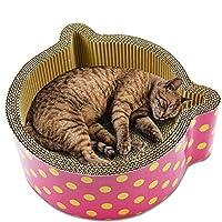猫 爪研ぎ ダンボール 猫おもちゃ 人気 高密度 耐久 スクラッチャー 猫ベッド スクラッチャー ストレス解消 ット用品 ねこ鍋 多層 丈夫 両用