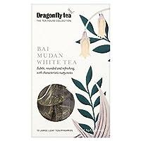 Dragonfly Bai Mudan White Tea Pyramid Bags 15 per pack - (Dragonfly) Baiの牡丹ホワイトティーのピラミッドバッグパックあたり15 [並行輸入品]