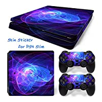 Hzjundasi 646# Body Sticker Decal Skin ステッカーデカールスキン For Playstation 4 PS4 Slim Console+Controllers
