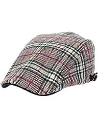 [PLIC N PLOC]EMH16.ビッググレンチェックメンズベレー帽 ハンチング フラットキャップ帽子 鳥打ち帽 秋 冬