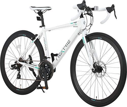 ネクスタイル(Nextyle) 【組立必要商品】 ロードバイク 自転車 RNX-7021-DC NEXTYLE ディスクブレーキ シマノ製21段変速 700c 27インチ アルミフレーム【ホワイト】 33745 ホワイト