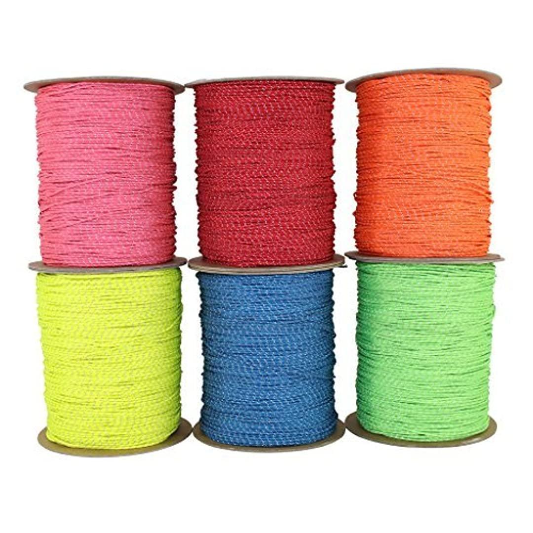 ノーブルサリー緩めるSGT KNOTS Spectra Cord (2.2 mm x 100 feet) - Low-Stretch Hi-Visibility Accessory Rope - Polyester Cover, Spectra Core - for Hammocks, Tie-Downs, Camping, Survival, Boot Laces, More (Neon Orange) [並行輸入品]