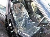 【カーピカル ノンスリップポリシートカバー 50枚入】自動車フロント座席の養生用のビニールシートカバーで納車前の展示車のシートの保護する