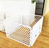 おしゃれな 犬 ゲージ 折りたたみ サークル 小型犬 中型犬 白 90×90cm 高さ60cm