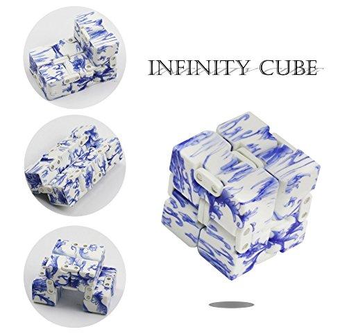 無限キューブ、アライグマMagic infinityフリップキューブEDCモジモジSquare ShapedリリースStress Toy For Anxiety ホワイト