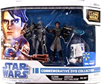 Star Wars Clone Wars Animated Exclusive Action Figure 3-Pack Commemorative DVD Collection 2 (Anakin Skywalker, R2-D2 and