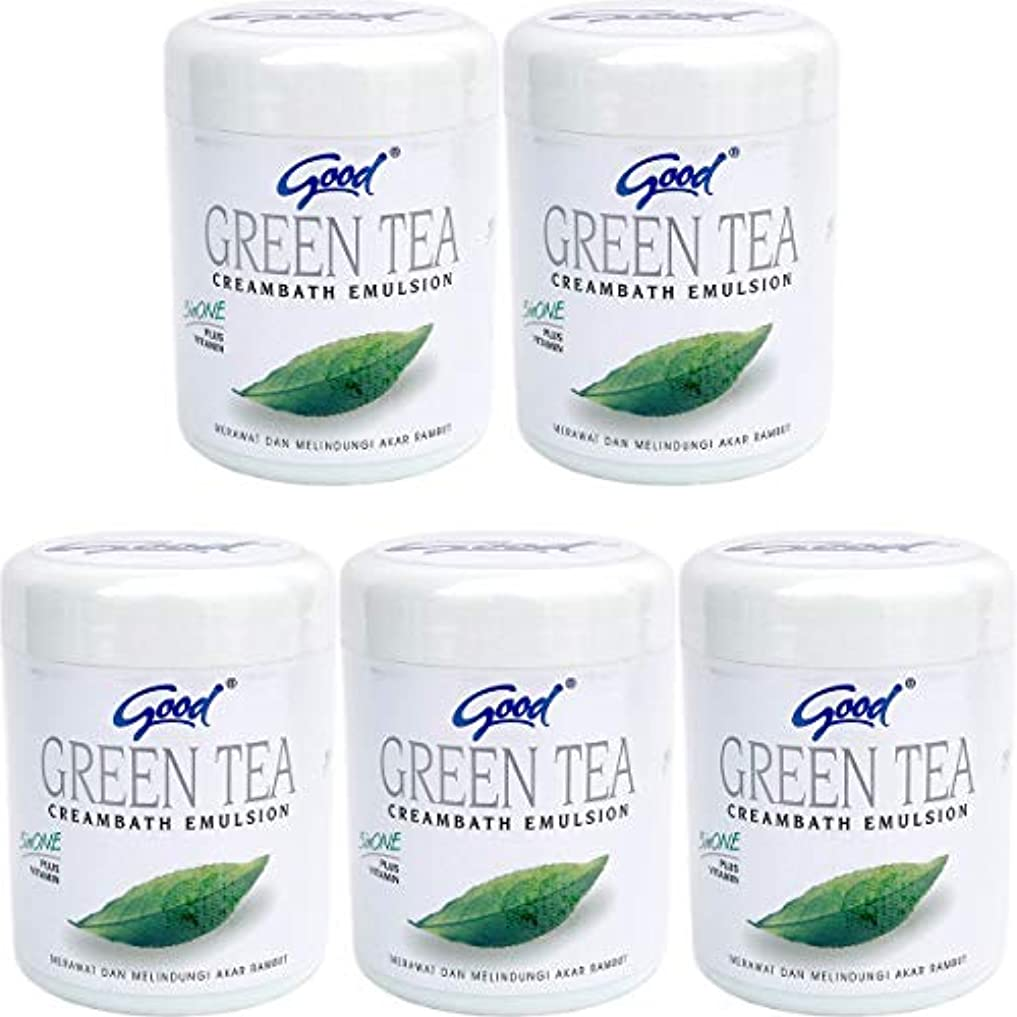忠実に努力する六good グッド インドネシアバリ島の伝統的なヘッドスパクリーム Creambath Emulsion クリームバス エマルション 680g × 5個 GreenTea グリーンティー [海外直送品]