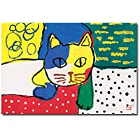猫の足あと ポストカード 「僕って、お洒落でしょ!」