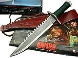 MASTER CUTLERY(マスター カトラリー) RAMBO1 ランボー1 サバイバルナイフ ジョン・ランボー サイン入りプレミアムモデル 極厚6mmブレード 本革シース MC-RB1S-JR [並行輸入品]