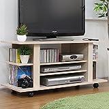 テレビ台 テレビボード ローボード キャスター付 シンプル コンパクト メープル 大型液晶テレビ対応 コーナー 置き 100cm幅 TCP308MP