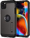 【Spigen】 iPhone 11 Pro ケース 5.8インチ 対応 耐衝撃 スタンド機能 米軍MIL規格取得 カメラ保護 傷防止 衝撃 吸収 Qi充電 ワイヤレス充電 タフ・アーマー 077CS27239 (ガンメタル)