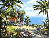 デジタルキャンバス油絵風景diy家の装飾寝室リビングルーム絵画40x50cm C