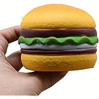 Squishies ジャンボ 低反発 子供用 Lovely Collection Toys かわいいハート型ハンバーガー 香り付き ストレス解消おもちゃ