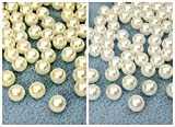 〇〇樹脂ビーズ 樹脂パール 片穴 直径(外径)6mm 12g入り 約110個 パール白 クリーム 片穴 直径6mm,クリーム