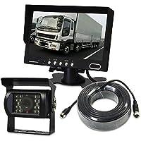 オンダッシュモニター 7インチ CMOS バックカメラ 延長ケーブル 20m セット 24V トラック 4ピン端子 2系統入力 モニター 赤外線暗視 カメラ SV2-TK701-SET1