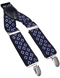 サスペンダー Y型 メンズ ズボンつり 紳士ベルト ビジネス 伸縮性いい 弾性ベルト 太め クリップ3個 5色