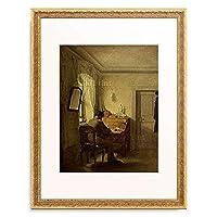 Kersting, Georg Friedrich,1785-1847 「Man sitting at his desk.」 額装アート作品